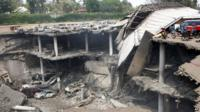 A destroyed section of the Westgate mall in Nairobi