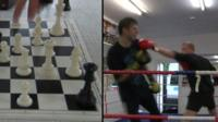 Chessboxing composite image