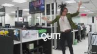 Still from 'I quit' video by Marina Shifrin