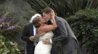 Couple, just married in California