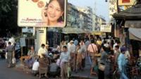 Rangoon central streetscene
