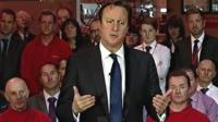 David Cameron speaking at a PM Direct event