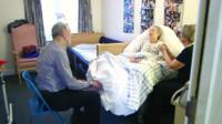 Graham and Maureen Price with carer