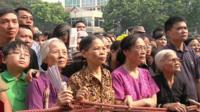 Crowds in Hanoi