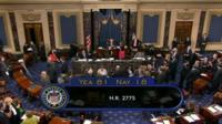 The vote is passed in the Senate