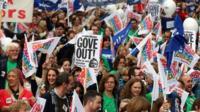 Striking teachers in Bristol