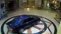 One of the gang's cars reverses into the Wafi City Mall in Dubai as the other enters