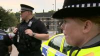 Staffordshire police officers respond to emergency call