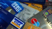Various banks cards