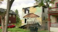 A ramshackle house in Detroit