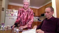 Erma and Gordon MacDonald look at pension statement