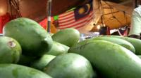 Mangoes in a market in Malaysia