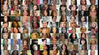The 100 Women involved in the BBC campaign