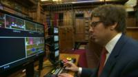 Editing and camera control in courtroom