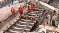 Rail improvement work