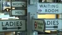 London Transport Museum signs