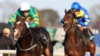 AP McCoy moves Jezki ahead of Caid Du Berlais, ridden by Ruby Walsh