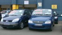Used cars sales lot