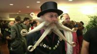 An entrant in the World Beard and Moustache Championships in Germany
