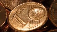 A euro cent coin