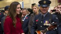 Duchess of Cambridge at poppy selling event