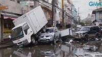 Vehicles piled up