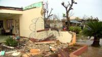 Destroyed home