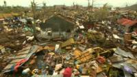 Devastation left by typhoon