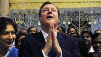 David Cameron during visit to India