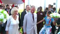 The Prince of Wales and the Duchess of Cornwall in Colombo