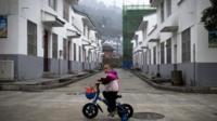 A child on a bike
