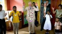 Prince Charles dancing the Hokey Cokey
