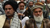 Members of the Afghan Loya Jirga