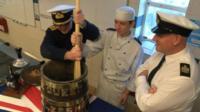 Stir-up Sunday pudding mixture at HMS Raleigh