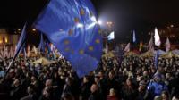 Pro-EU rally in Kiev