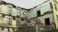 The collapsed factory building in Heilongjiang Province