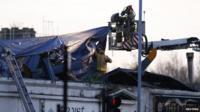 Scene of helicopter crash