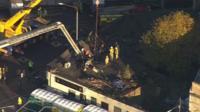Aerial view of crash scene
