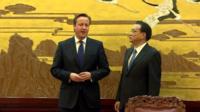 David Cameron and Premier Li