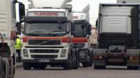 Truckers at Turners' depot in Suffolk