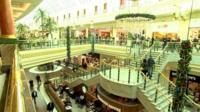 Inside Trafford shopping centre
