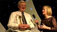 Barry Ewington getting his award