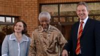 Cherie Blair, Nelson Mandela and Tony Blair