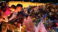 Floral tributes outside Nelson Mandela's home
