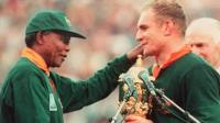 Nelson Mandela with Francois Pienaar
