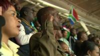 Ivan Mpofu at the stadium