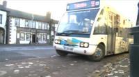 Bus in village