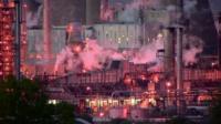 Grangemouth refinery in Scotland