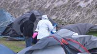 Makeshift settlement in Calais