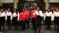 The Boys and Girls Choir of Harlem Alumni Ensemble performing in New York City in December 2013